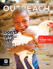 Outreach International Magazine Design