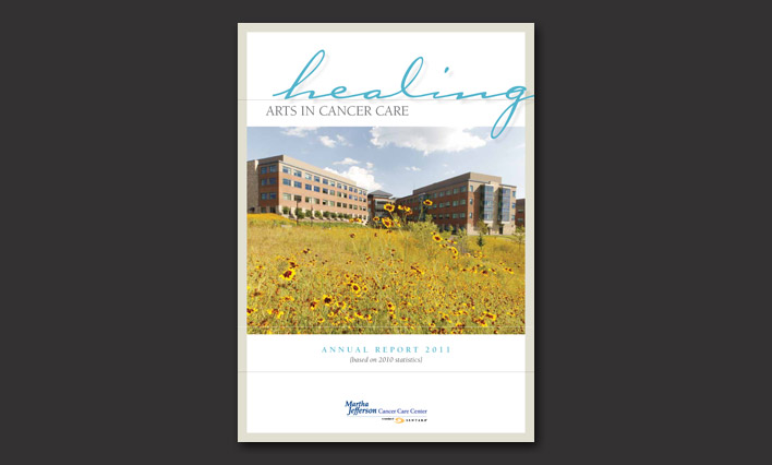 Martha Jefferson Cancer Center annual report design