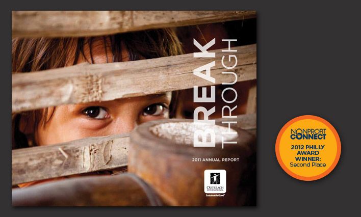 Outreach International annual report design