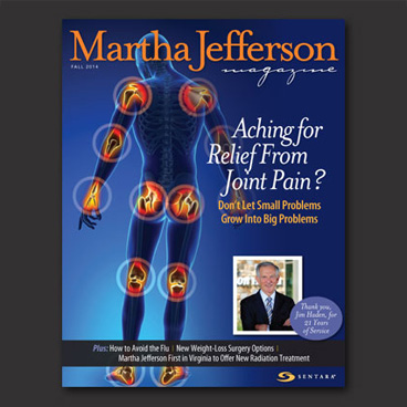 Martha Jefferson Magazine cover design