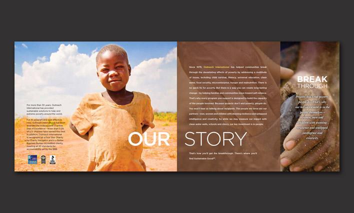 Outreach International annual report layout